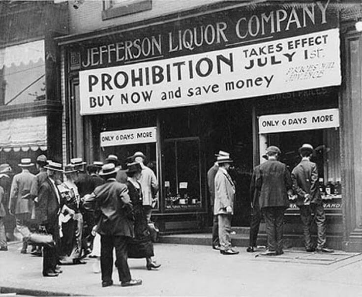 Prohibition takes effect July 1st - Jefferson Liquor Company - historical photo