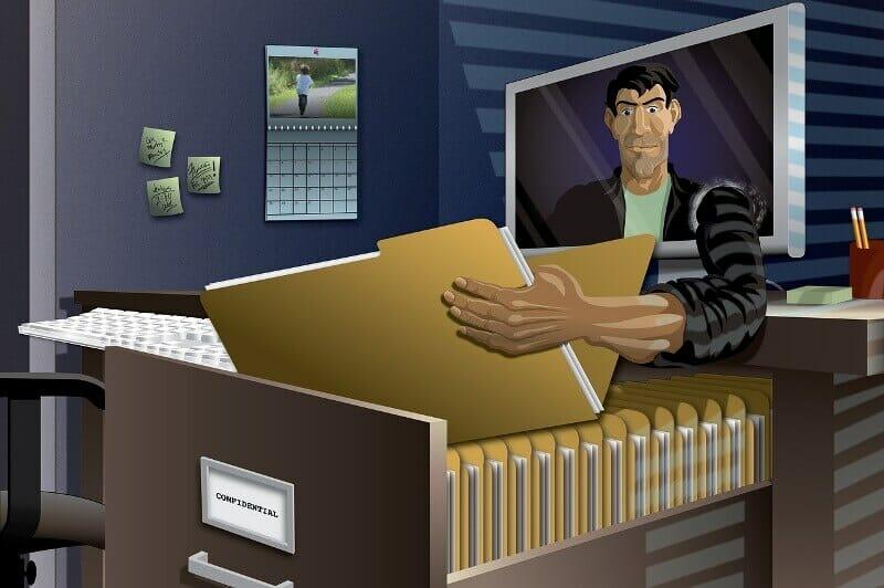 Identity theft artist painting